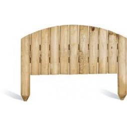 Bordure de jardin en bois à planter arc 55 x 30 x 40 cm - BURGER
