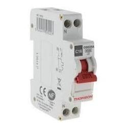 Disjoncteur à vis ph+n 16A NF  - Thomson