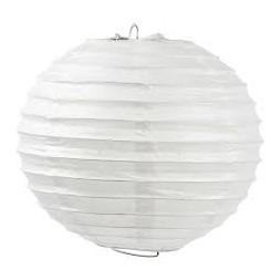 Abat-jour blanc papier  40 x 40 x 40cm