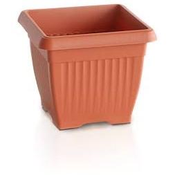 Pot carre growing marron 8 x 8cm
