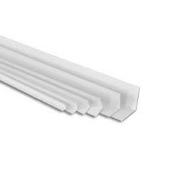 Equerre PVC gris clair 10mm x 2m50