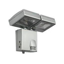 Luminaire extérieur plastique gris métallisé 2 leds