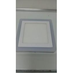 Plafonnier led carré bicolor 12w