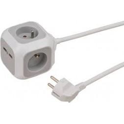 Multiprise + prise USB Aléa Power - BRENNENSTHUL