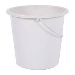Seau de ménage blanc 10L