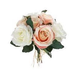 Bouquet de 7 roses vieillies