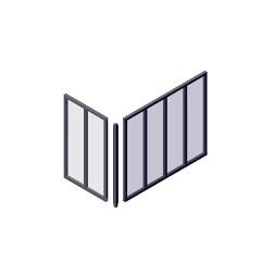 Poteau d'angle pour verrière gris 1150 x35  x35mm