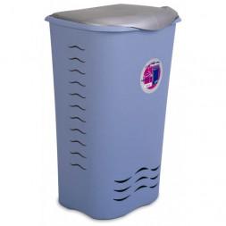 Coffre à linge bleu 70L - PLASTIKEN