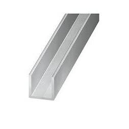 U aluminium incolore 10 x 10 x 10 x 1mm x 1m
