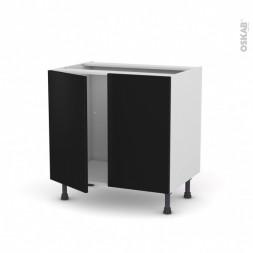 Meuble bas évier/four 80cm + façade couleur + poignée et fixations