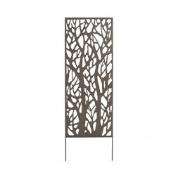 Panneau metal décoratif brun 0,60 x 1,50 m - NORTENE
