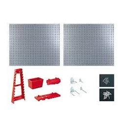 Lot de 2 panneaux muraux + accessoires - RIBIMEX