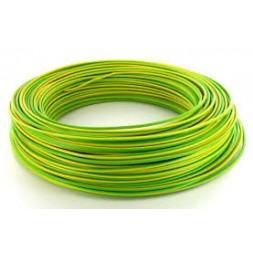 Fil H07VU 2.5mm vert jaune 100m