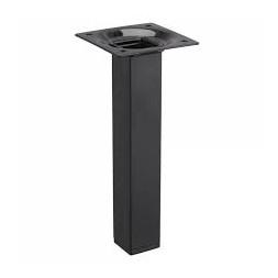 Pied métal carré acier laqué noir hauteur 250mm