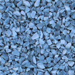 Gravier  bleu lagon concasse 8/12 mm - sac 25kg