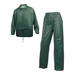 Ensemble de pluie veste + pantalon vert L