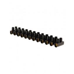 Barrette 12 plots 25mm noire - LEGRAND
