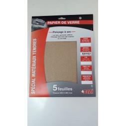 Papier abrasif moyen 5 pièces - OCAI