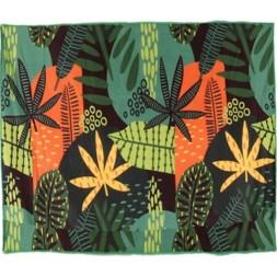 Serviette de plage 150 x 150 cm polyester vert - GERIMPORT