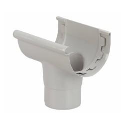 Naissance centrale gouttière PVC demi-ronde 25 gris