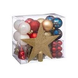 Lot de 44 boules de Noël