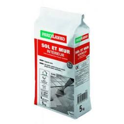Colle carrelage sol / mur intérieur  blanc 5kg - ParexLanko