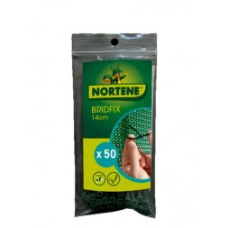 Collier plastique bridfix 14cm vert - Nortene