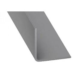 Cornière pvc gris aluminium 20x20mm 2m - CQFD