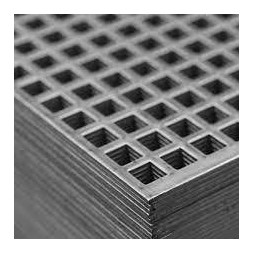 Tôle aluminium perforée carrée  500 x 1000mm