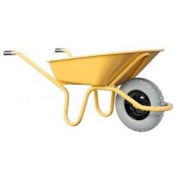 Brouette tous travaux roue pleine jaune