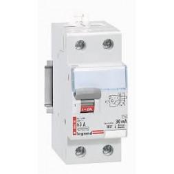 Interrupteur differentiel 30 mA 63A type A - LEGRAND
