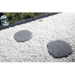 Pas japonnais floréal structure gris ép 38/32mm