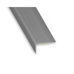 Nez de marche pvc gris 69 x 40mm L 1m70