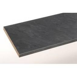 Plan de travail hydrofuge noir anthracite 3000x650x38mm