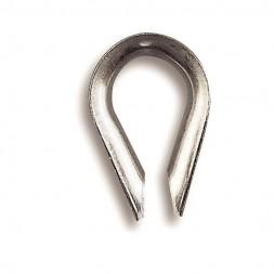 Cosse coeur inox 6 mm