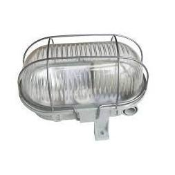 Hublot oval + grille métal gris - TIBELEC