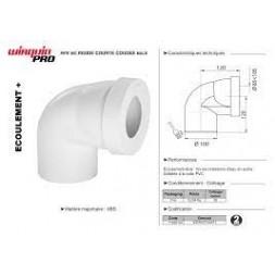 Pipe wc courte coudée mâle - WIRQUIN