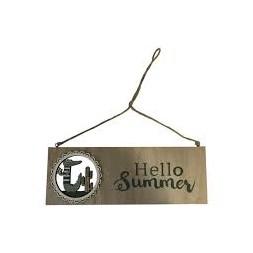 """Affiche suspendue """"Hello Summer"""""""