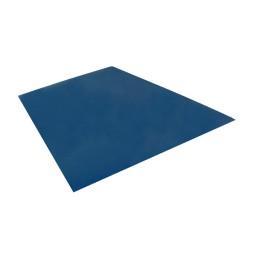 Tôle  plane prépeint 2 faces 75/100e  3m x 1m25  bleu nuit