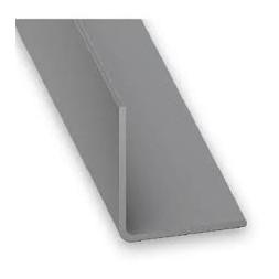 Cornière PVC gris aluminium 20 x 20mm - CQFD