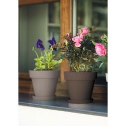 Pot à fleurs taupe Ø22cm