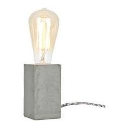 Lampe à poser béton gris E27 - GLOBO