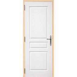 Bloc porte postformé 3 panneaux  droite huisserie sapin brut  TD 730x65x55mm