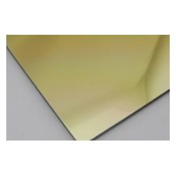 Panneau aluminium poli mir laiton 2 faces 1250 x 3050 x 3mm