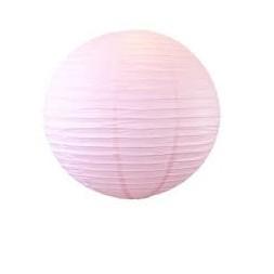 Suspension boule japonaise rose