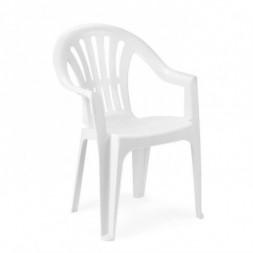 Chaise plastique blanche Scilla