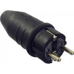 Fiche électrique mâle avec terre 16 A 250 V