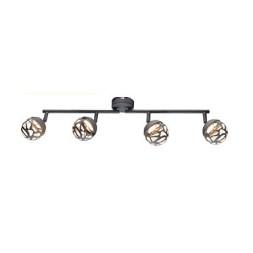 Spot LED métal gris 4 leds