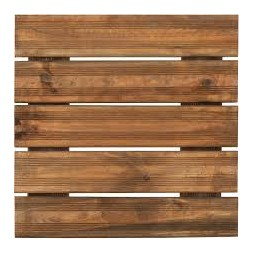Dalle de terrasse en bois teinté 50 X 50cm X 3.8CM BURGER