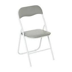 Chaise pliante PVC gris